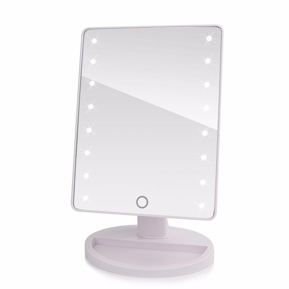 360 Degree Rotation Touch Screen Make Up Mirror Cosmetic