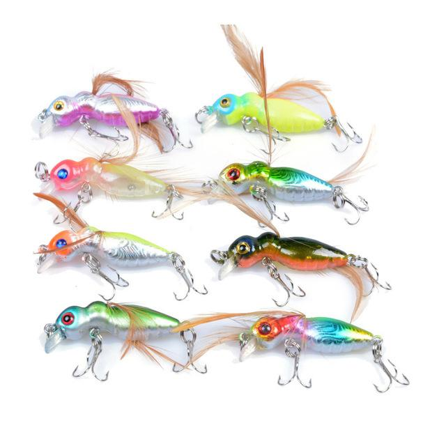 New Arrival 8pcs/lot Fishing Lures 4.5cm 3.4g Artificial Make Swimbait Wobbler Fishing Tackle 8 colors High Quality Fishing bait