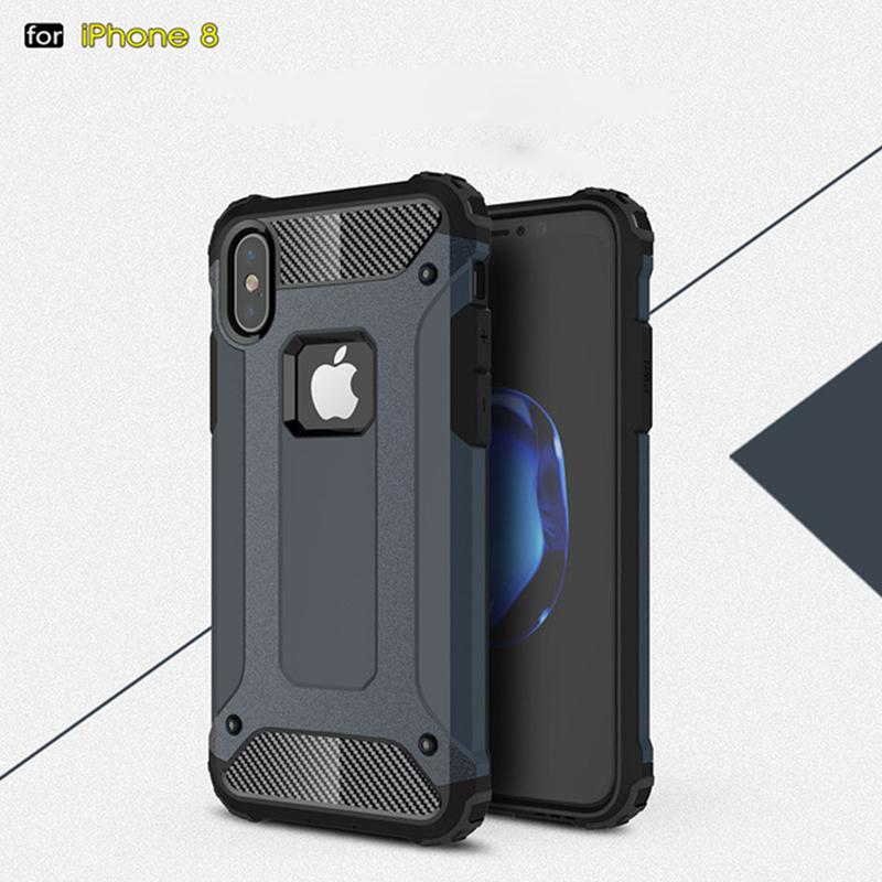 For Apple iphone X 8 7 plus 6S Samsung Galaxy note8 S8 plus S8+ S7 edge S6 Steel armor TPU+PC cell phone cases DHL free SCA328