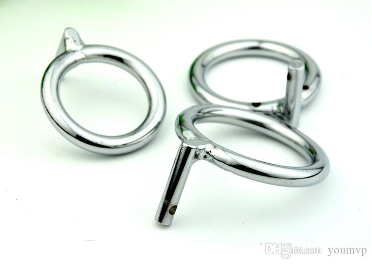 Anel da torneira do metal para o anel masculino da peça do dispositivo da castidade para a gaiola do galo, 3 tamanhos para a escolha