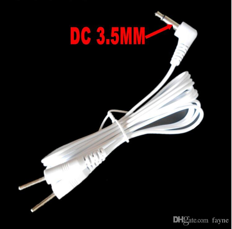 DC 3.5MM 2 in 1 pin style Head electrode wires cord /cable for digital device and TENS massager DHL/EMS
