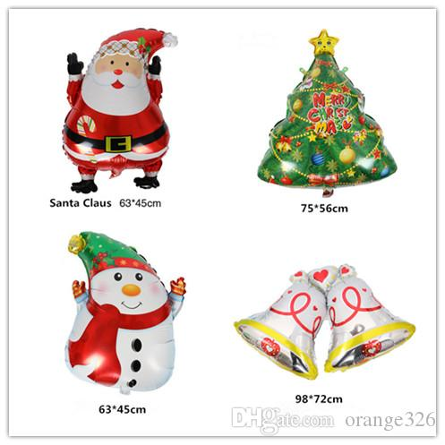 Cartoon Christmas Tree Foil Balloons Santa Claus Helium Balloon Merry Decoration Inflatable Classic Toys Snowflake Decorations Snowman