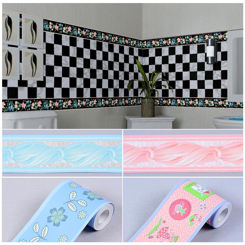 Wholesale 10cm Wide 10m Pvc Self Adhesive Wallpaper Kitchen Bathroom