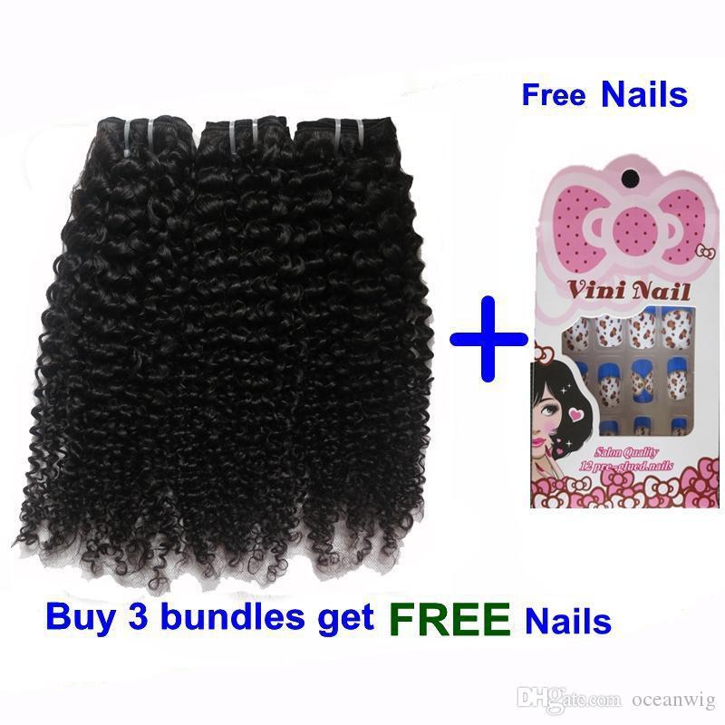 Kinky Curl Human Hair Weave 7a Cambodian Brazilian Curly Bundles