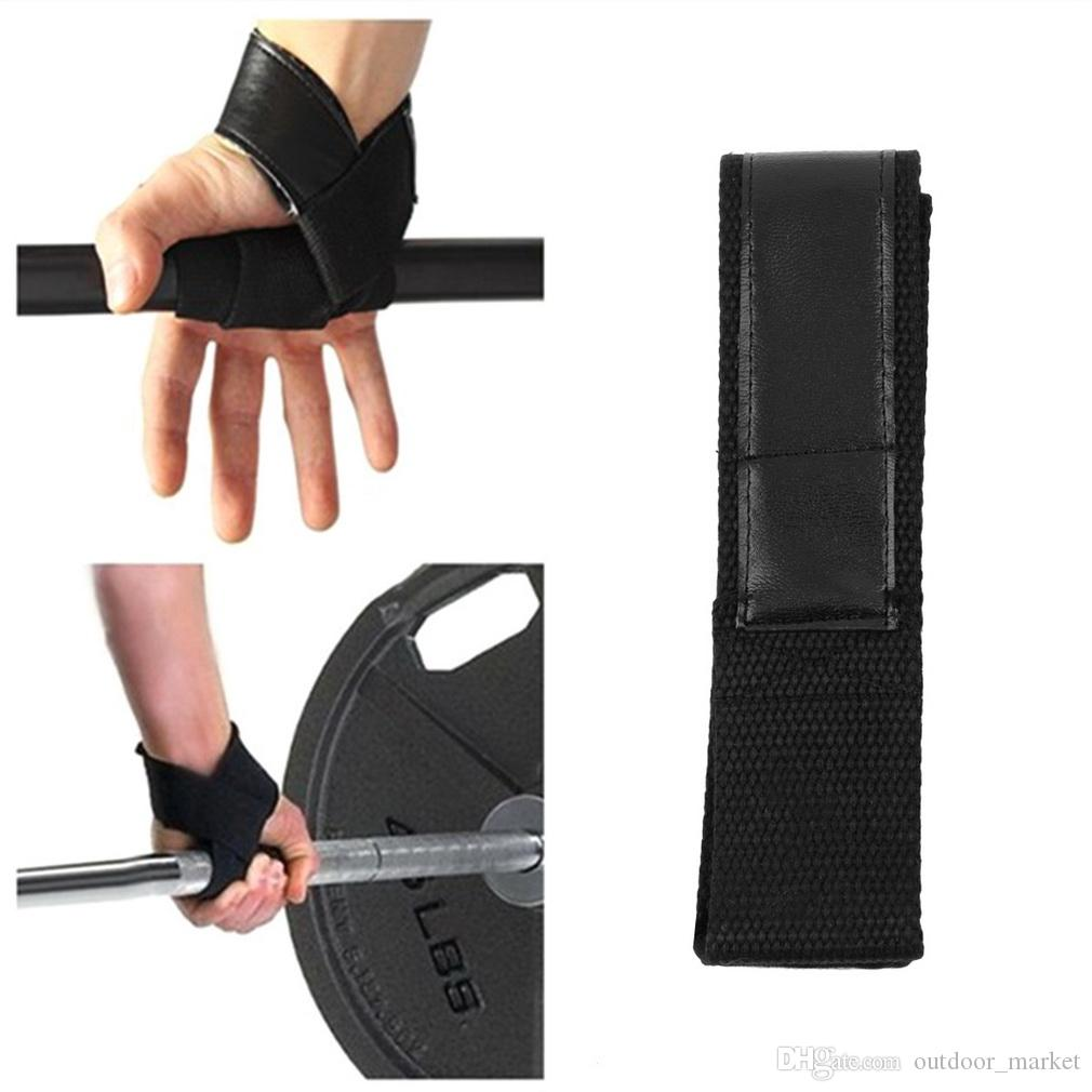 1Pair Weight Lifting Hand Wrist Bar Support Strap Brace Support Gym Straps Weight Lifting Wrap Belt Body Building Grip Glove