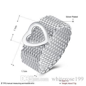 Partihandel - Retail Lägsta pris Julklapp, Gratis frakt, Ny 925 Silver Fashion Ring R043