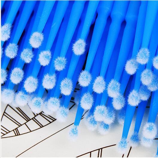 موضة جديدة مصنع سعر رمش تمديد القضيب المتاح microbrush رمش 100 قطع مايكرو فرشاة القضيب حرية الملاحة