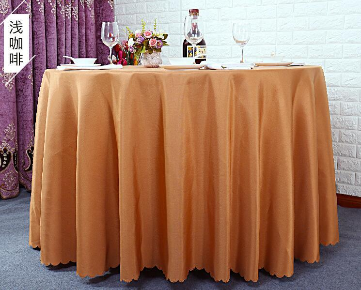 Table cloth Table Cover round for Banquet Wedding Party Decoration Tables Satin Fabric Table Clothing Wedding Tablecloth Home Textile WT045