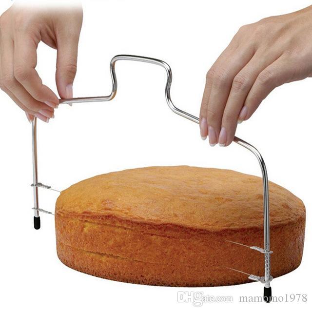1 قطعة جديد خط مزدوج تعديل أدوات الخبز diy العفن المقاوم للصدأ أدوات كعكة كعكة الخبز القطاعة القاطع سلاسل سكين lb 123