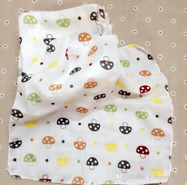 Baby NewBorn Infant Gauze Muslin Square Cotton Bath Wash cloths bibs Towel