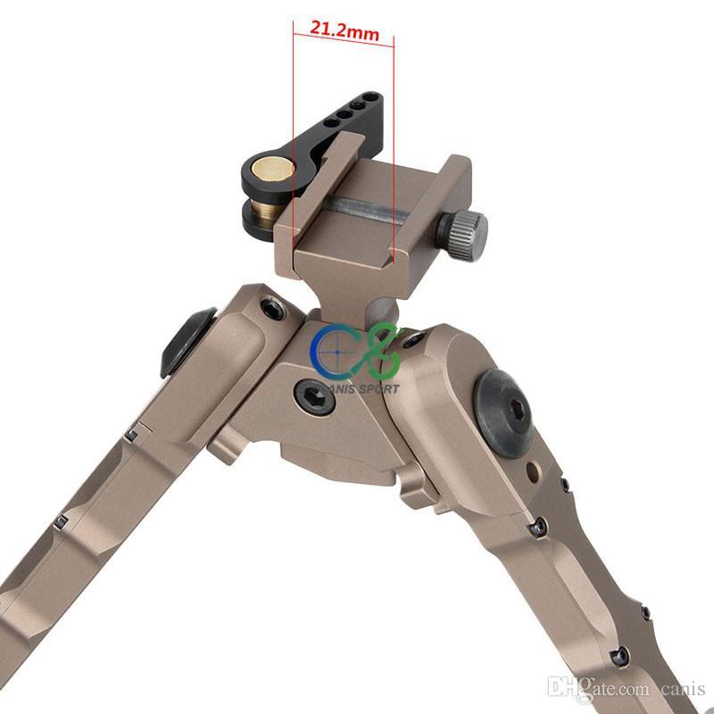 جديد وصول التكتيكية sr-5 sr-5 سريع detach bipod الألومنيوم عالية picatinny weaver bipod للخارجية التبعي التكتيكية cl17-0029