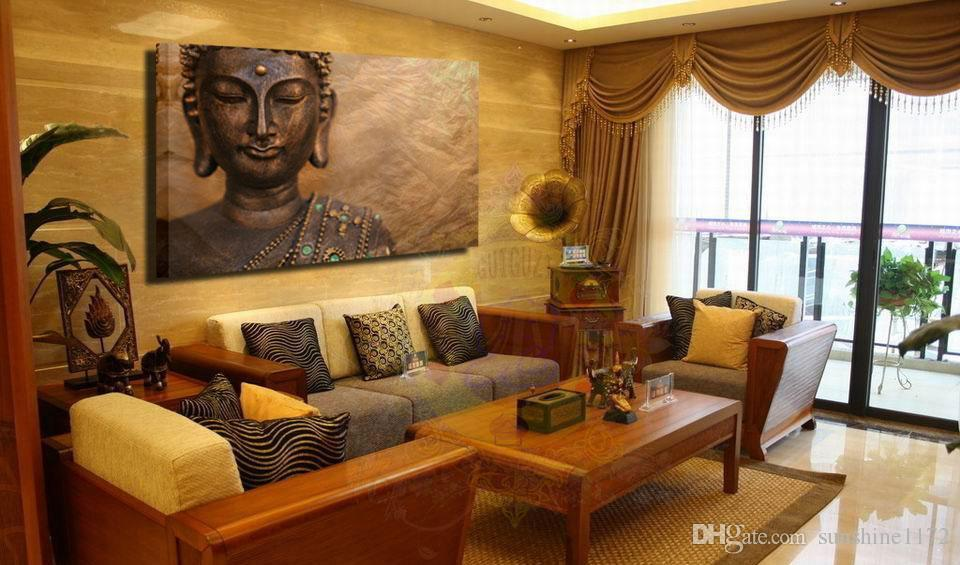 buddha themed living room 2018 unframed prints painting single canvas buddha wall 14705