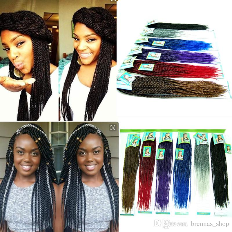Chunky Senegalese twists neatly done Natural Hair Crochet Braids Hair havana small twist 22'' 120g/pack Crochet Braids Hair Extension