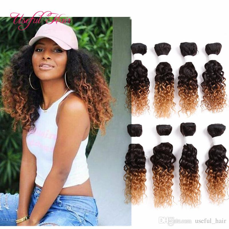 Ombre Brown Loose Wave Brazilian Hair Extensionmongolian Curly