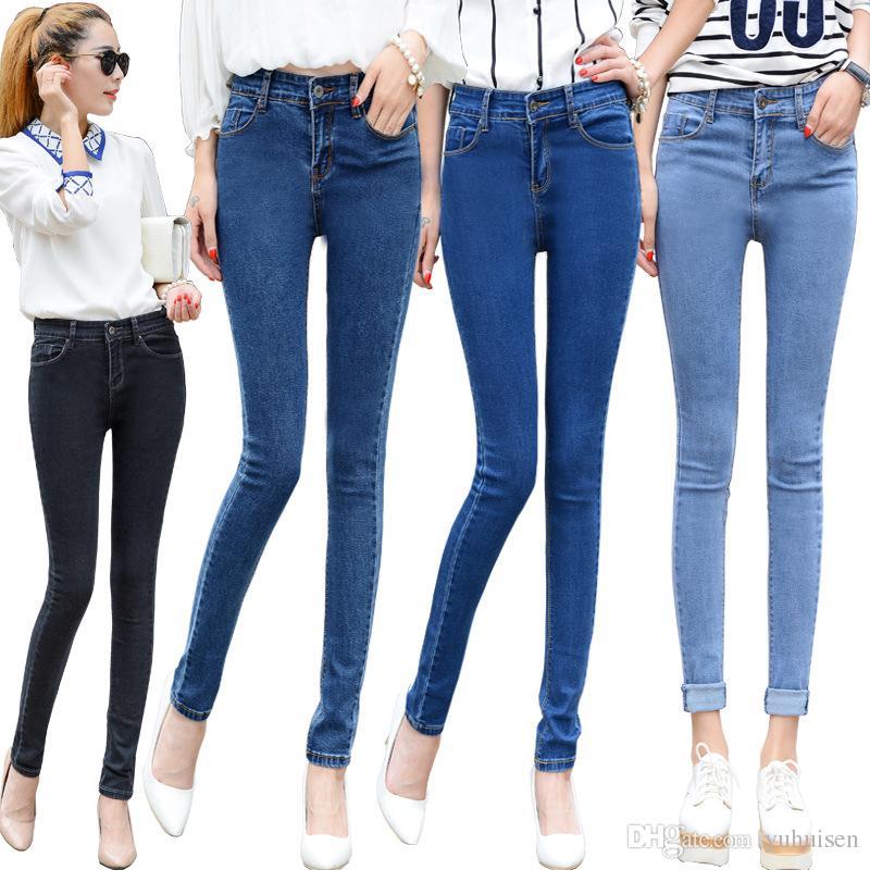 2017 Wholesale 2017 New Spring Women Slimming Denim Skinny Jeans ...