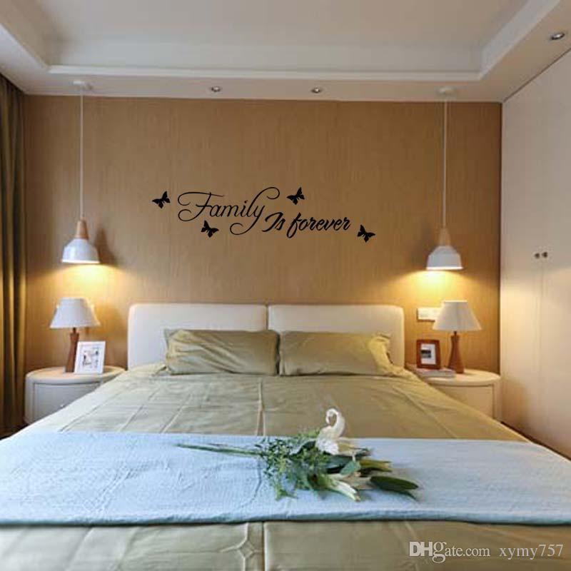 Für Familie ist für immer Wand Kunst Aufkleber abnehmbare lustige Aufkleber Zitat Schlafzimmer Wohnzimmer Dekoration Diy