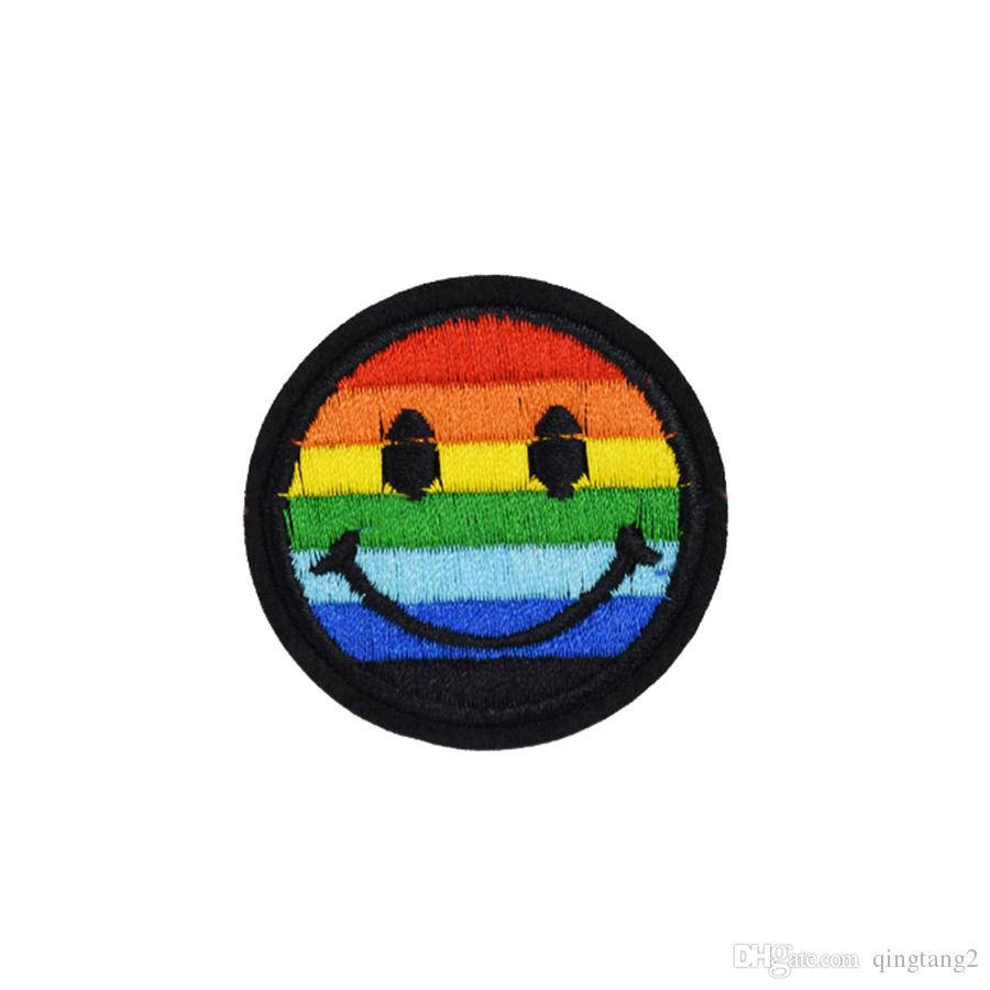 color expression patches for clothing iron fashion patch for clothes applique sewing accessories stickers badge on cloth iron on patch