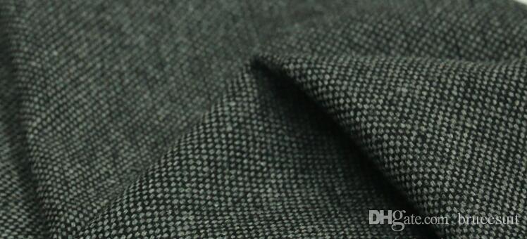 2019 Vintage Black Wool Tweed Vests Slim Mens Suit Vests Custom Made Sleeveless Suit Jacket Men Wedding Waistcoat Mens Dress Vest Groom Vest