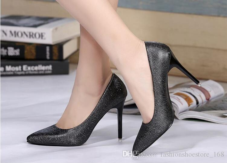 New Woman Pumps Wedding Shoes Fashion Sexy Classic High Heels Pointed Toe Sweet Party Dress Shoes
