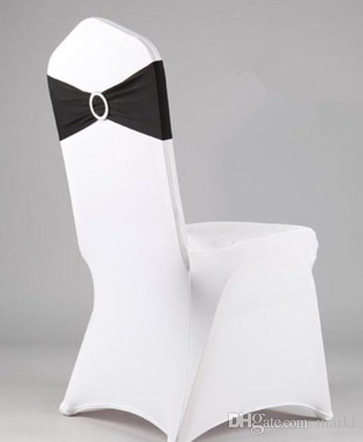 marki spandex chair band with plastic buckle for wedding decoration/lycra cover chair bands/elastic chair band Z312A