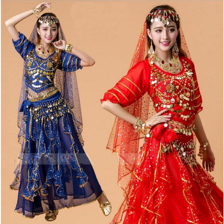 Kostüm Bollywood Bauchtanz Indisches Q0228 Kleid Großhandel wk8Pn0O