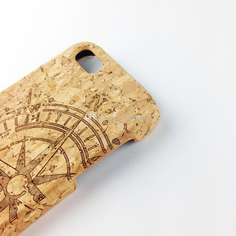 For iPhone 5 5S 6 6S 6Plus 7 7Plus 8 8+ Cork Wood Phone Case Special Protector Cover Factory Price