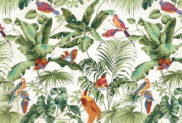 3d ستيريو حديقة استوائية زهرة الطيور اللوحة نمط خلفيات نوم التلفزيون خلفية شخصية خلفيات جدارية ديكور المنزل خلفيات