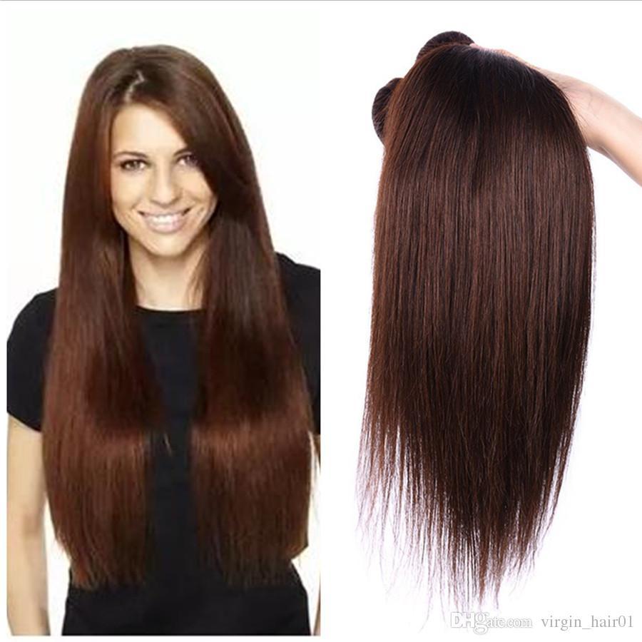 2019 Wholesale Brazilian Human Hair Price 2 Dark Brown Straight