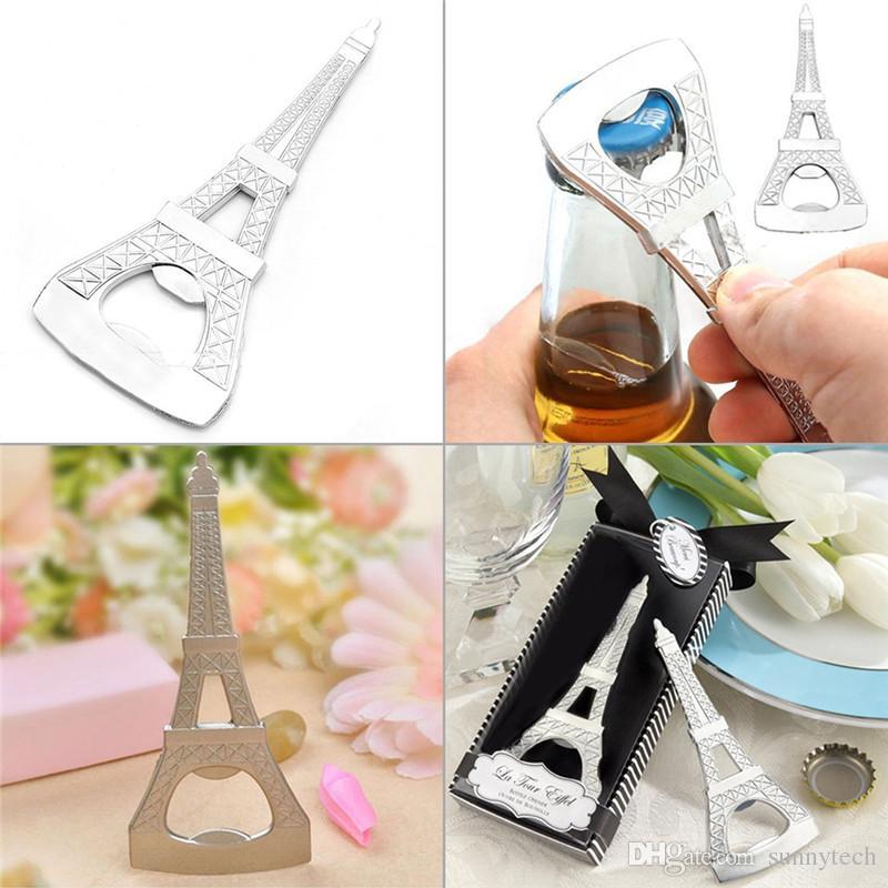 Heißer Verkauf Geschenk La Tour Eiffelturm Chrom kann Bier Flaschenöffner Parteibevorzugung LZ0045