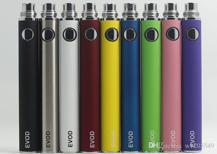 Batteria EVOD sigaretta elettronica -650mah 900mah 1100mah adatta a tutte le serie eGo Kit CE4 CE5 MT3 spedizione gratuita