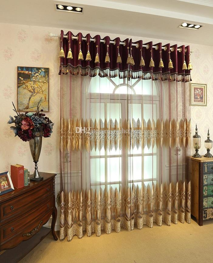 Baroque Style Luxury Gauze Curtains The New Pattern Water Soluble  Embroidered Shade Sheer Curtains Living Room Sitting Room The New 2017 Door  Window ... Part 97