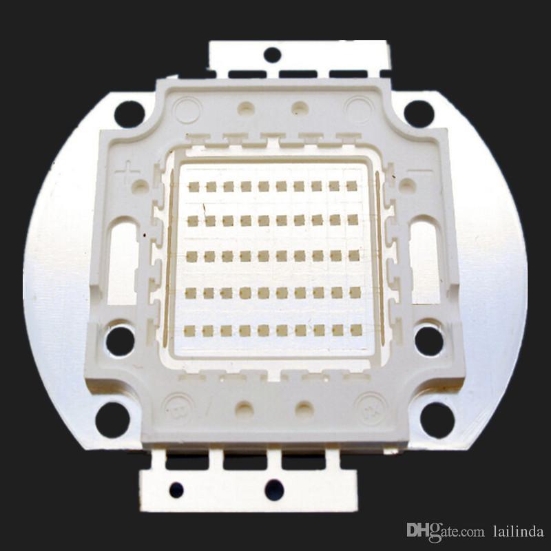 10W / 20W / 30W / 50W / 100W UV LED lampe Violet Projections 365-370nm Épilés 45mil Chip Livraison Gratuite