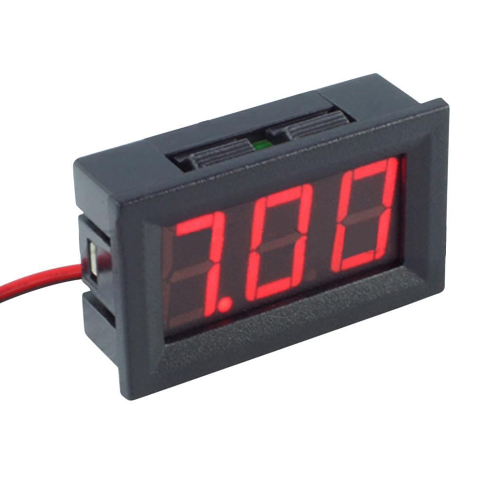 Мини DC 4.5-30V 0.56inch LED Цифровой вольтметр Двухпроводной дисплей Вольтметр Вольтметр Амперметры Красный / Синий / Зеленый