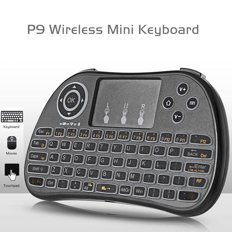mini backlit keyboard light up white color backlight p9 2017 mini wireless keyboard air mouse. Black Bedroom Furniture Sets. Home Design Ideas