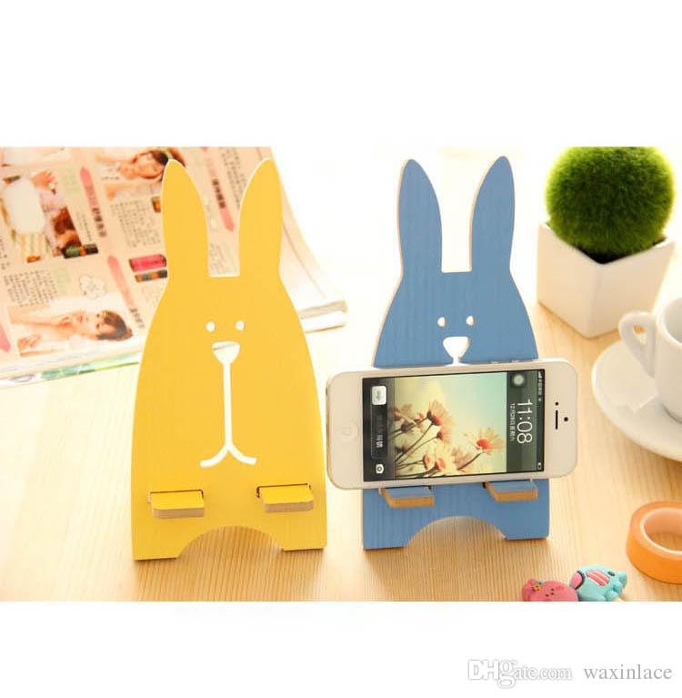 2019 Diy Wooden Phone Holder With Cartoon Rabbit Lazy Phone Holder For Iphone Samsung Htc Huawei Ipod Cell Phone From Waxinlace 0 76 Dhgate Com
