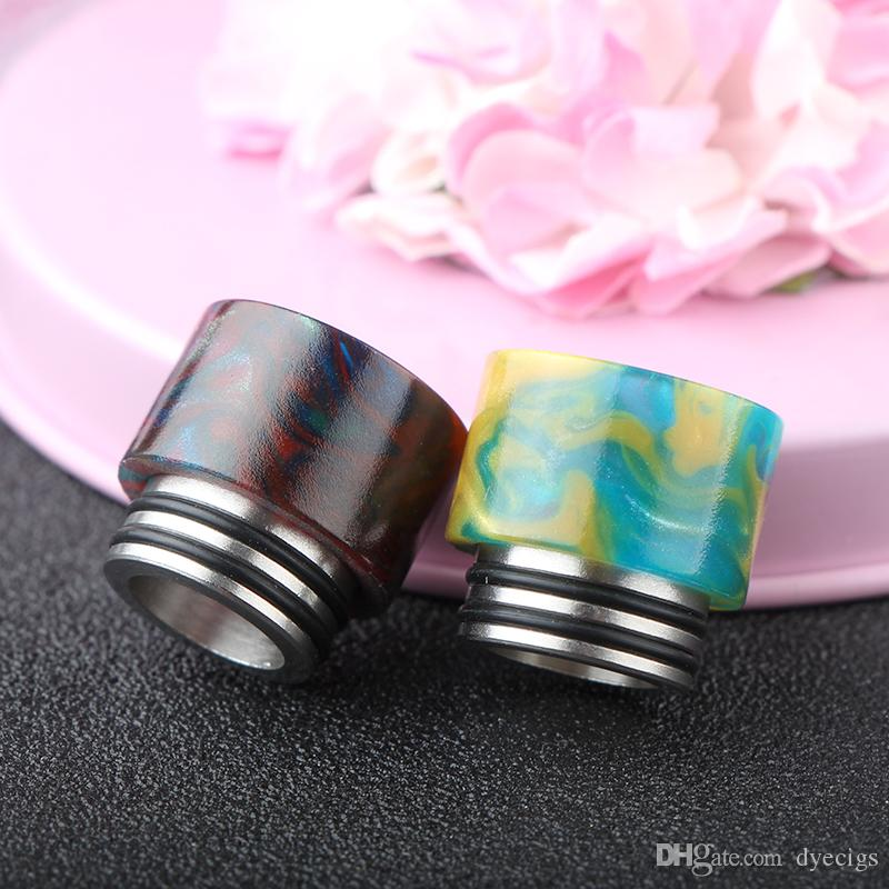NEW SS Epoxy Resin Drip Tips For TFV8 Atomizer Tank Stainless Steel + Epoxy Resin Mouthpiece Dual O Rings