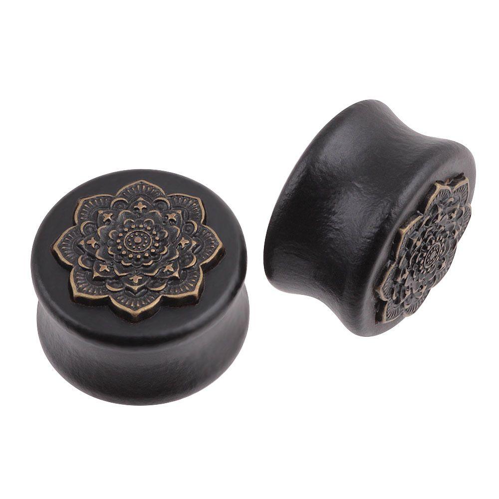 10-25mm 유행 나무 귀 플러그 바디 피어 싱 쥬얼리