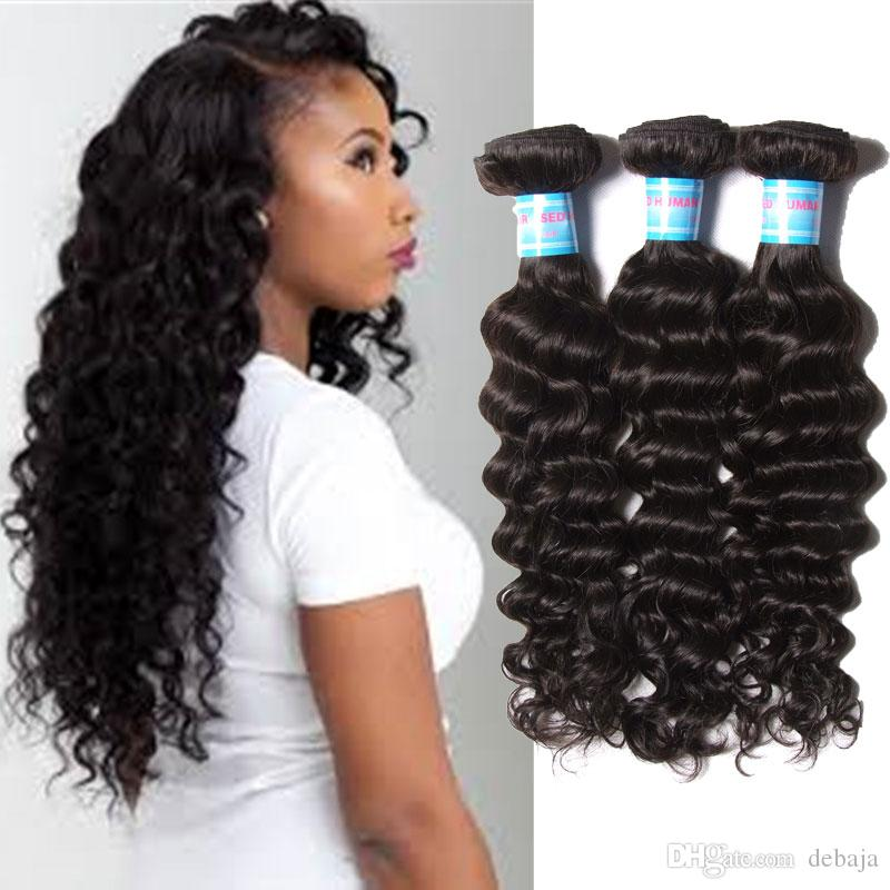 2018 Brazilian Deep Wave Curly Hair Weave 100 Unprocessed Remy
