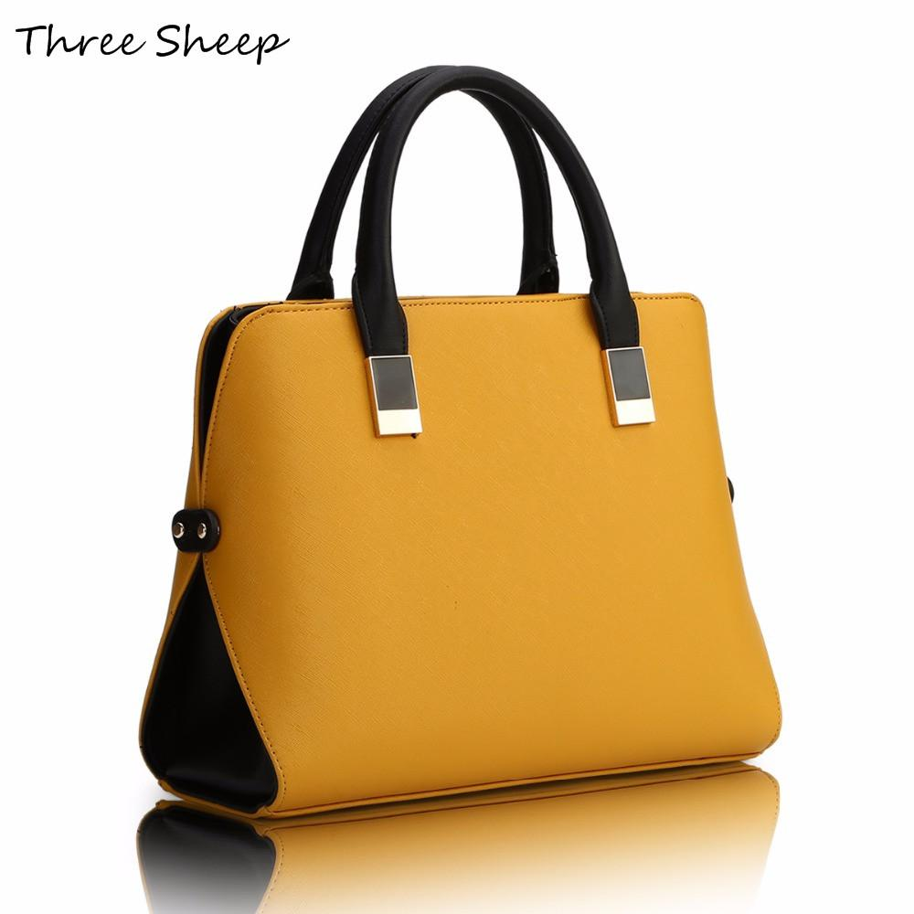 Wholesale Yellow Womens Hand Bags Designers PU Famous Designer Handbags  Luxury Leather Blue Black Handbag Women Elegant Sac A Main Purses Wholesale  Mens ... f321ede725146