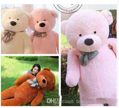 1a8c8fd07666e 2019 2018 Factory Direct Sale 6.3 FEET TEDDY BEAR STUFFED LIGHT BROWN GIANT  JUMBO 72 Size 160cm Birthday Gift From Tescosupermarket