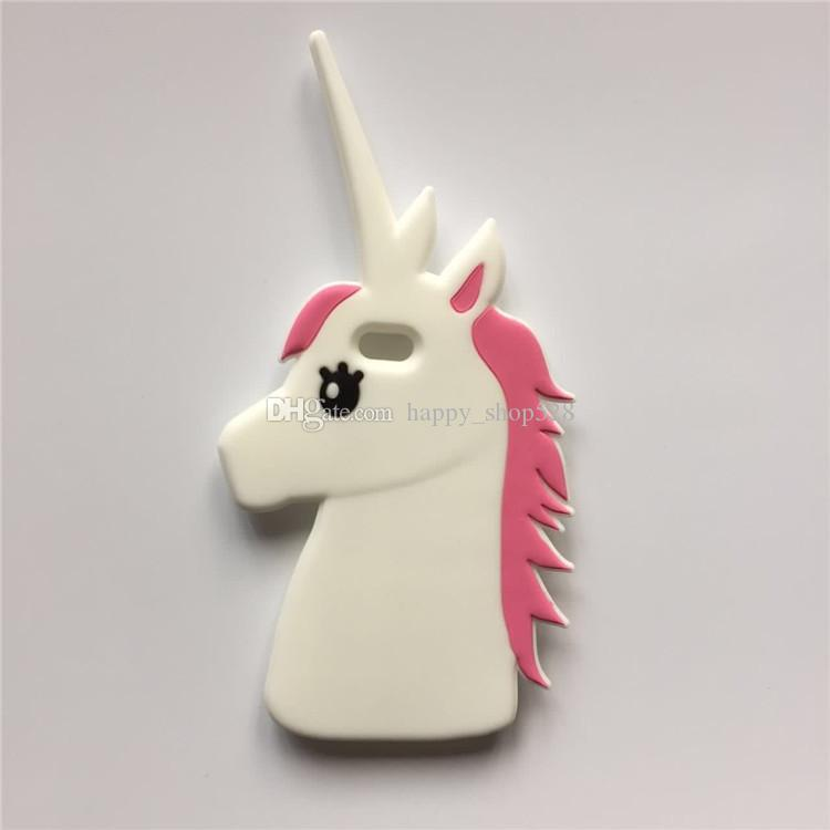 3D Cartoon Unicorn case Soft Silicone Back Cover For iphone 6 6s plus 5 5s i7 i7plus Cell phone Protective Shell wholesale