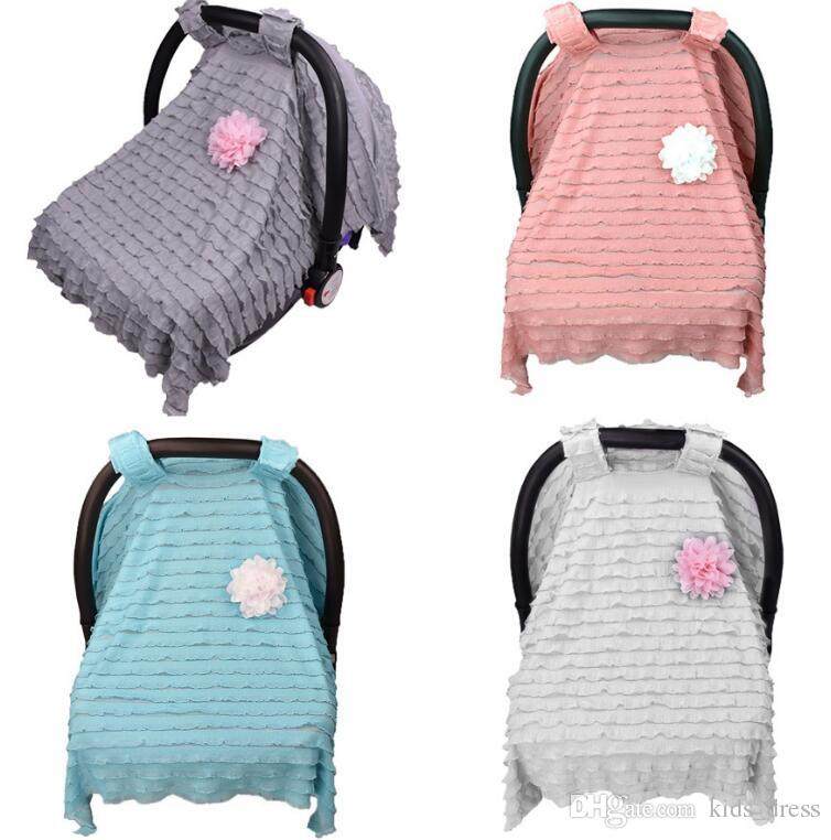 2018 Baby Car Seat Cover Nursing Canopy Stripe Shopping Cart Stroller Accessories Sleep Buggy Covers KKA2412 From Kids Dress