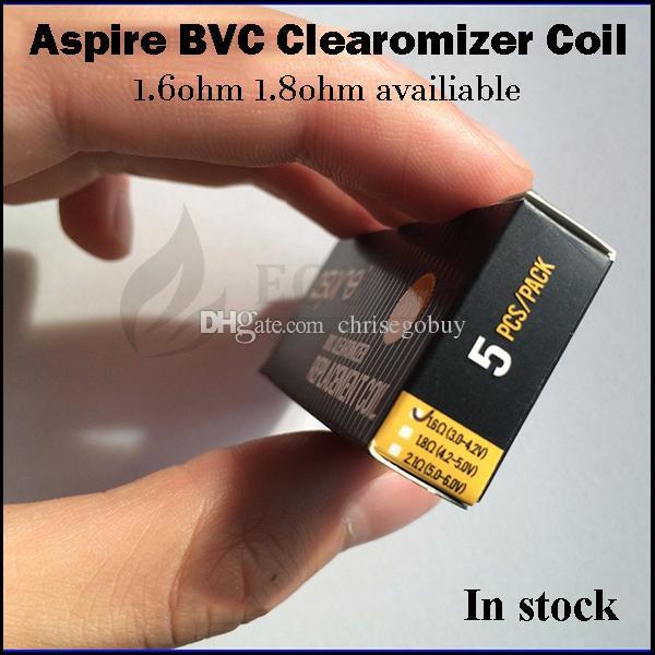 100% Authentic Aspire bvc replacement coils 1.6ohm 1.8ohm coil heads for original Aspire CE5-s vivi-nova mini ce5 ET-S ets bvc atomizer