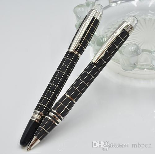Venta caliente - serie de lujo de la estrella MB negro rejilla de metal bolígrafo con material de papelería escolar suministros de oficina escritura suave marca bolígrafo