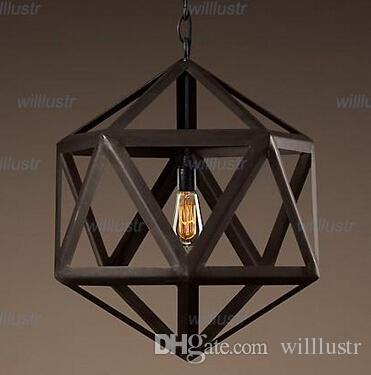 modern style lighting. Discount Modern Design Vintage Pendant Lamp Steel Polyhedron Loft Lights America Country Style Lighting Iron Chandeliers Ceiling T