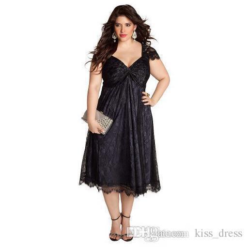 af29e93f463 купить оптом плюс размер короткие черные вечерние платья сплавы A