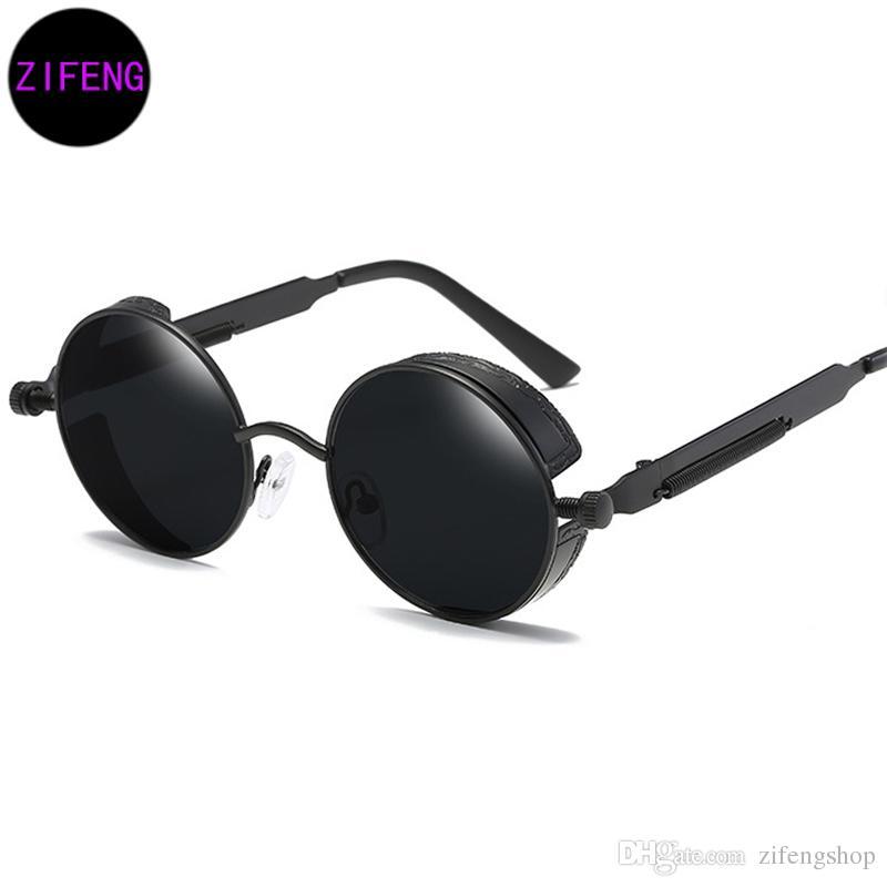 Großhandel Z F Runde Metall Sonnenbrille Steampunk Männer Frauen ...