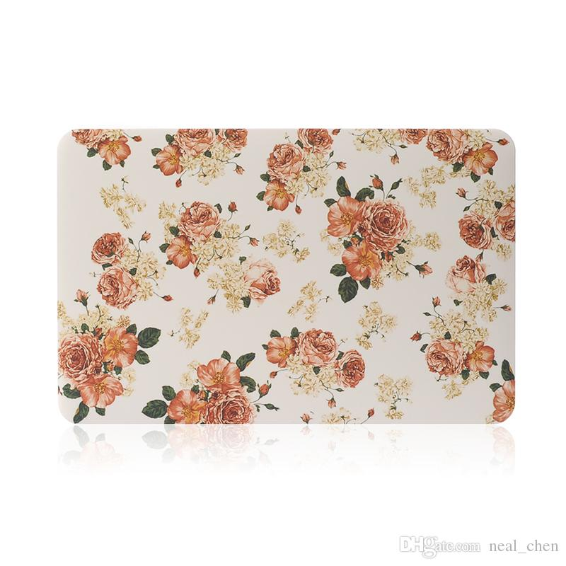 """Flower Plastic Shell Print Cover Case For Apple Macbook Air Pro Retina 11.6"""" 13.3"""" 15.4"""" A1370 A1465 A1369 A1466 A1278"""