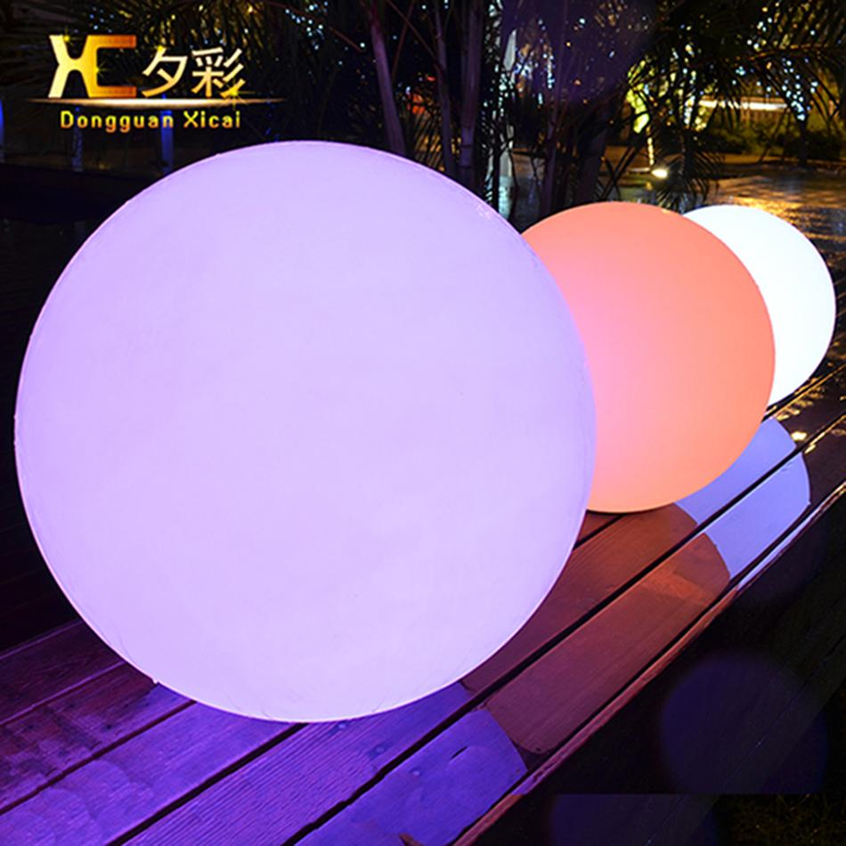 Wholesale- 60cm Rechargeable Cordless Outdoor LED Lighted Lawn Ball Color Changing Plastic Remote Control Sphere