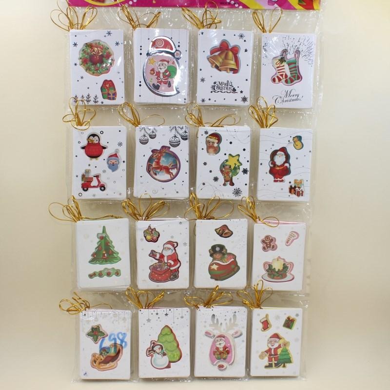 Zg107 New Creative Christmas Tree Decoration Pendant Hollow Card